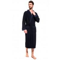 Облегченный махровый халат из бамбука Organique Bamboo (PM France 419) (синий)