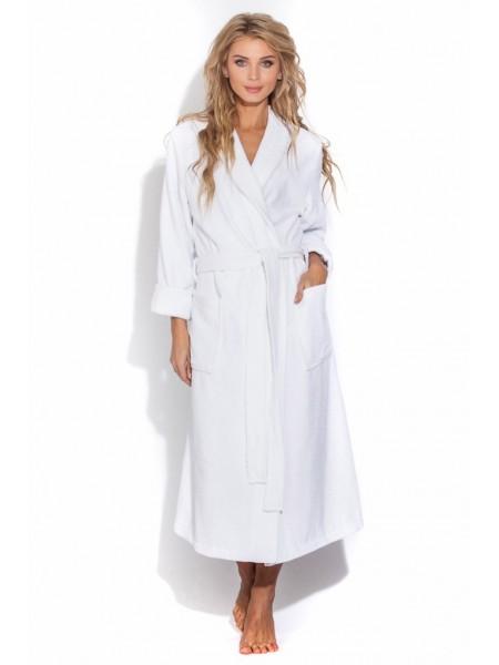 Махровый халат Arctic White (E 701) (белый)