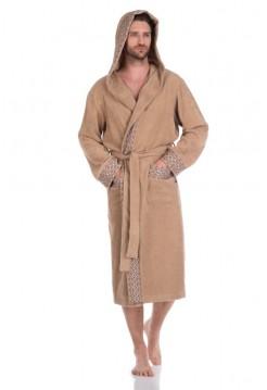 Махровый халат с капюшоном Le Roi (PM 914) (бежевый)