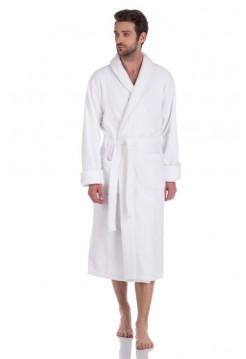 Махровый халат из микро-коттона BRUTAL Discount (PM 920) (white (белый))