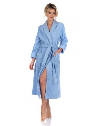 Женский махровый халат Цвет: голубой (голубой)