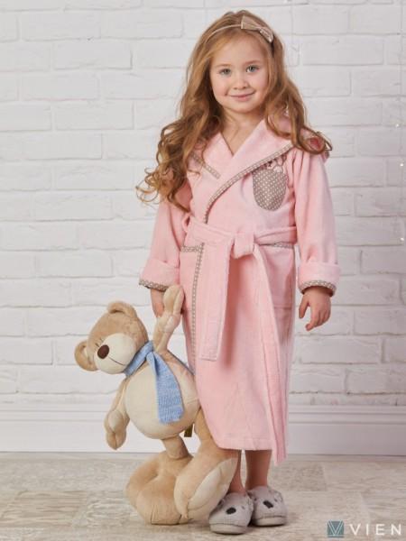 Детский махровый халат Teddy (EFW) (персиковый)