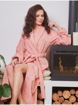 Махровый халат Belinda (EFW) (персик)