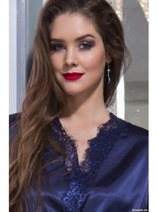 Шелковый халат-кимоно Flamenco (EM 2087) (синий)