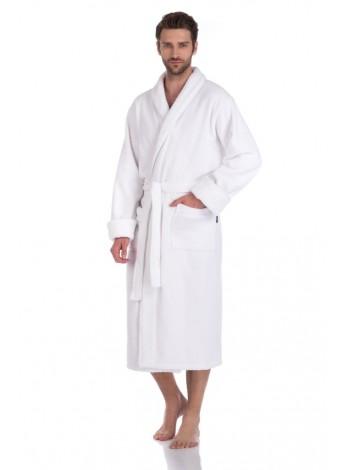 Махровый халат из микро-коттона BRUTAL (PM 920) (white (ослепительно-белый))