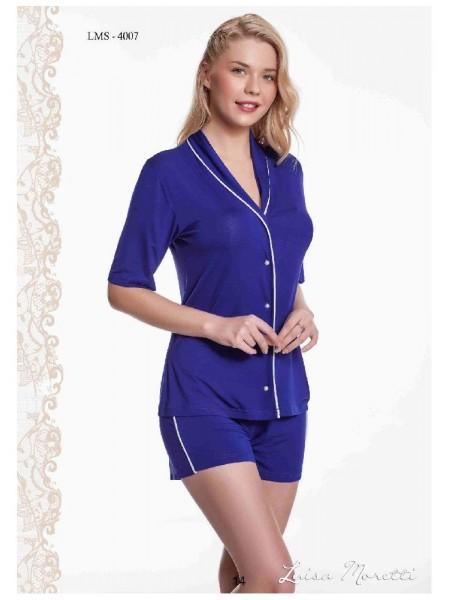 Стильная пижама Luisa Moretti (ESC 4007) (темно-синий)