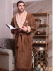 Мужской махровый халат Ludovic (EFW) (табак)
