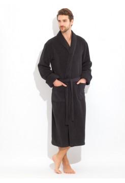 Махровый халат из микро-коттона BRUTAL (PM 920) (Black night (чёрный))