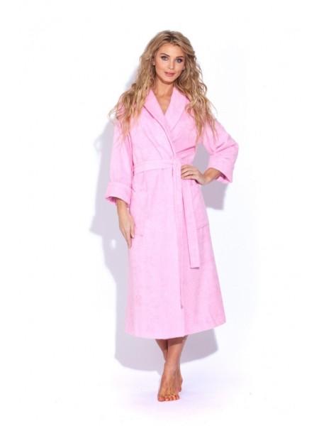 Женский махровый халат Цвет: розовый (розовый)
