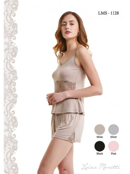Стильная  и нежная пижама Luisa Moretti (ESC 1128) (розовый)