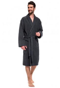 Банный махровый халат Gray Label (Е 365) (серый)