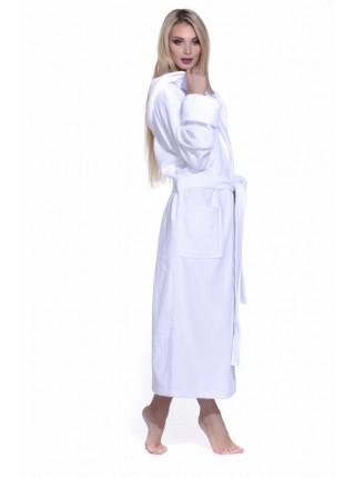Махровый халат с капюшоном SPORT&Life (Е 901-1) (белый)