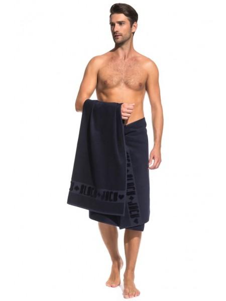 Банное махровое полотенце Black Jack 70x140 (PM France) (синий)