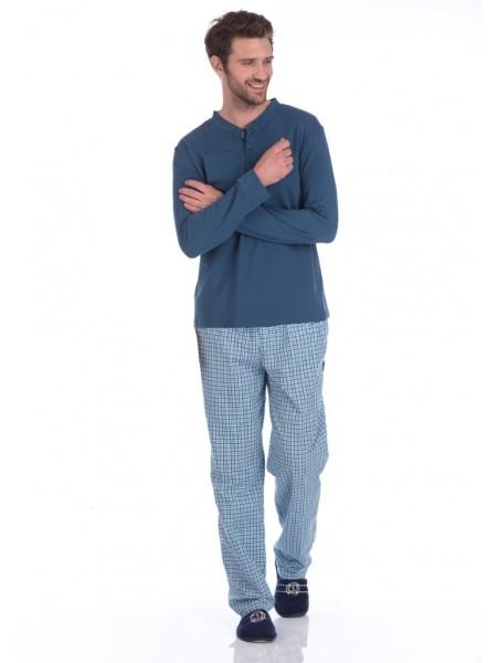 Домашний костюм - пижама BOSS №27 (PM 2131/1) (indigo (синий комбинированный))