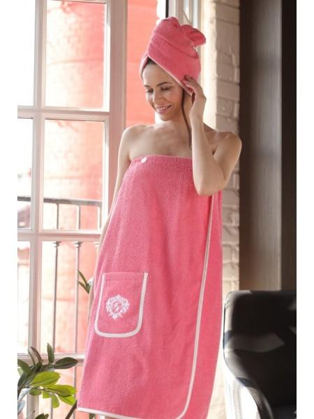 Женский набор для бани и сауны Sauna Joliy (EFW) (роза (розовый))