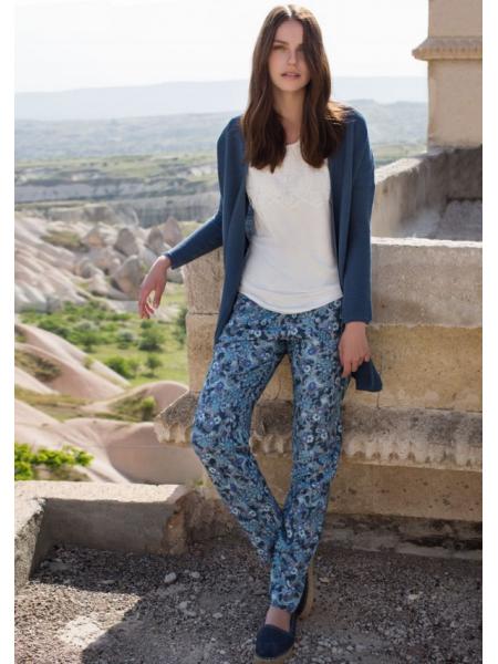 Стильный комплект - тройка. Кардиган, брюки и топ Miss Loren (E 1214) (комбинированный)