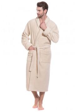 Махровый халат из микро-коттона BRUTAL (PM 920) (coffee (бежевый))